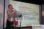 Julie Ferman (Cupid's Coach) Winner of Best Matchmaker at the 2010 iDate Awards Ceremony
