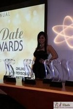 Award Model Andrea O'Campo in Miami at the 2010 Internet Dating Industry Awards