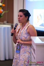 Monica Ohara (Director of Marketing at SpeedDate) at iDate2011 California