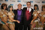 Marc Lesnick & Mark Brooks (iDate Awards Thanks You!) at the January 15, 2014 Internet Dating Industry Awards Ceremony in Las Vegas