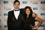 Arthur Malov & Damona Hoffman  at the 2014 iDateAwards Ceremony in Las Vegas held in Las Vegas