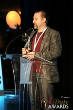 Honor Gunday (Winner of Best Payment System) in Las Vegas at the 2014 Online Dating Industry Awards