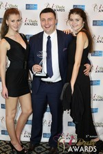 Maciej Koper of World Dating Company (Winner of Best New Technology) at the 2014 Las Vegas iDate Awards Ceremony