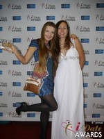 Svetlana Mucha and Elena Kolyasnikova in Las Vegas at the 2015 Online Dating Industry Awards