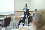 Catherine Dumas, CEO of Atman Co, covering personality testing strategy at iDate London 2016 at the 12th Annual União Europeia iDate Mobile Dating Business Executive Convention and Trade Show