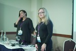 Genevieve Zawada and Arlene Vasquez reporting on the 2016 State of Matchmaking in Europe and the U.K.  at the União Europeia iDate conference and expo for matchmakers and online dating professionals in 2016